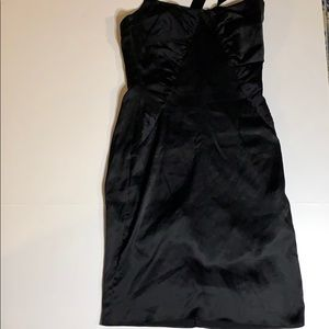 90s vintage Betsey Johnson black slip dress silk